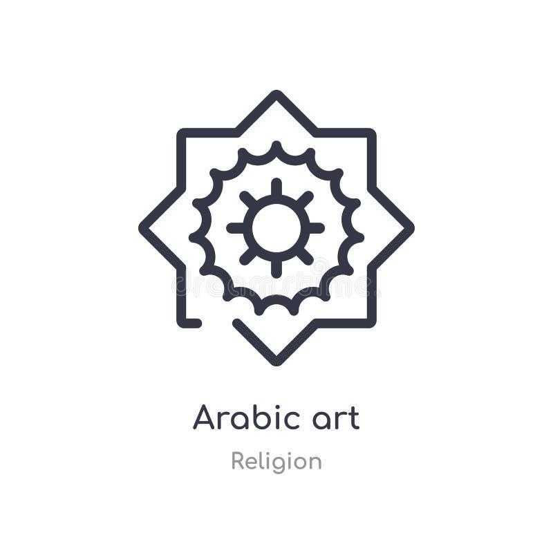 icône arabe d'ensemble d'art ligne d'isolement illustration de vecteur de collection de religion icône arabe d'art de course minc illustration stock