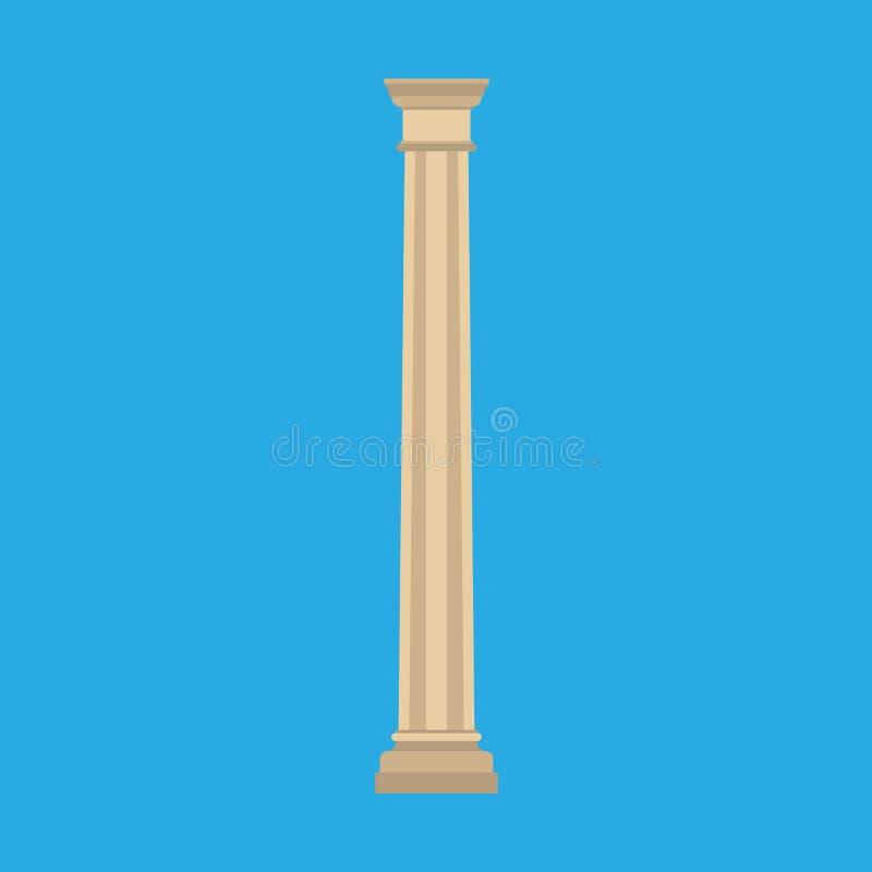 Icône architecturale de vecteur d'élément de monument classique de symbole d'histoire de colonne Barre de marbre extérieure de sc illustration de vecteur