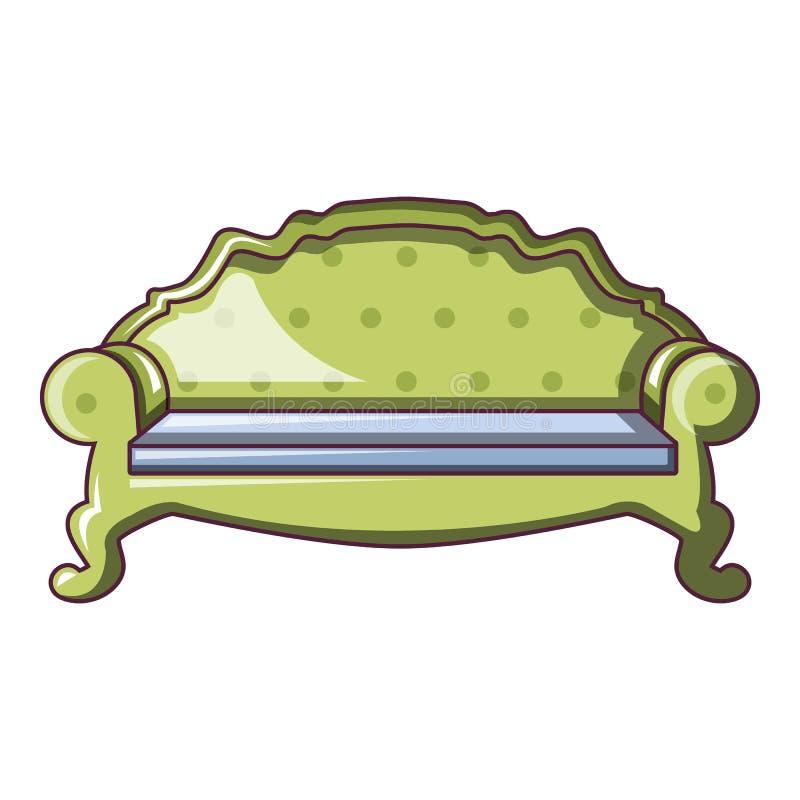 Icône arrière de sofa de chameau, style de bande dessinée illustration de vecteur