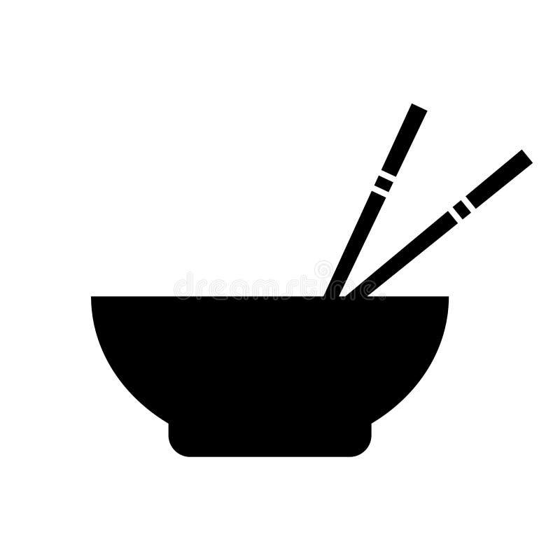 Icône asiatique de vecteur de nourriture illustration libre de droits