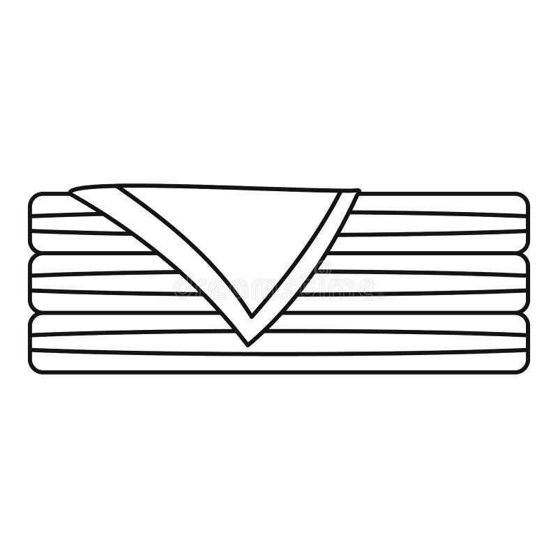 Icône assortie de serviette, style d'ensemble illustration libre de droits