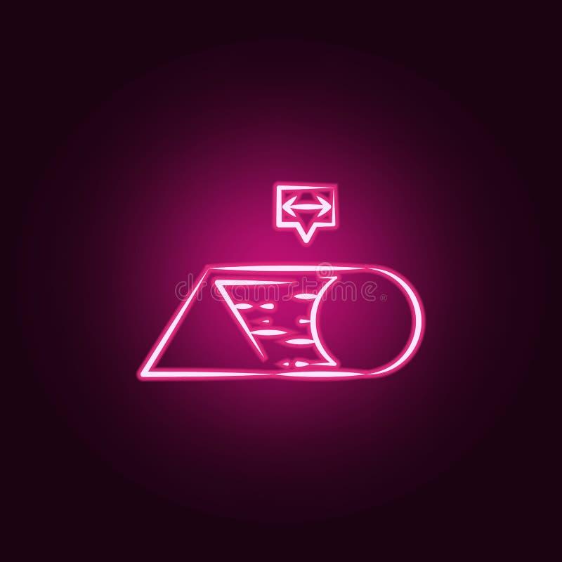 Icône au néon de métamorphose Éléments d'ensemble fol de la science E illustration libre de droits