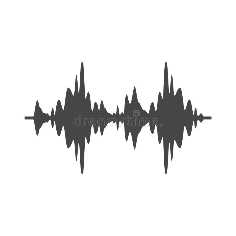 Icône audio de vague, illustration moderne d'onde sonore illustration de vecteur