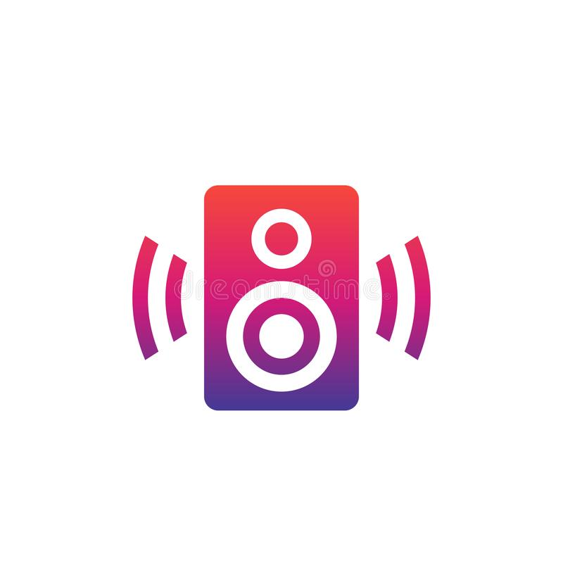 Icône audio de vecteur de haut-parleur illustration libre de droits