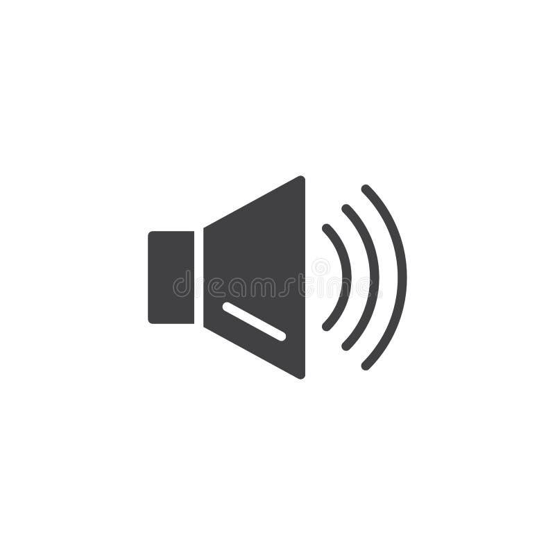 Icône audio de vecteur de haut-parleur illustration stock