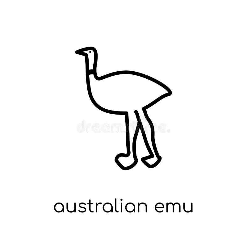 Icône australienne d'émeu de collection de l'Australie illustration libre de droits