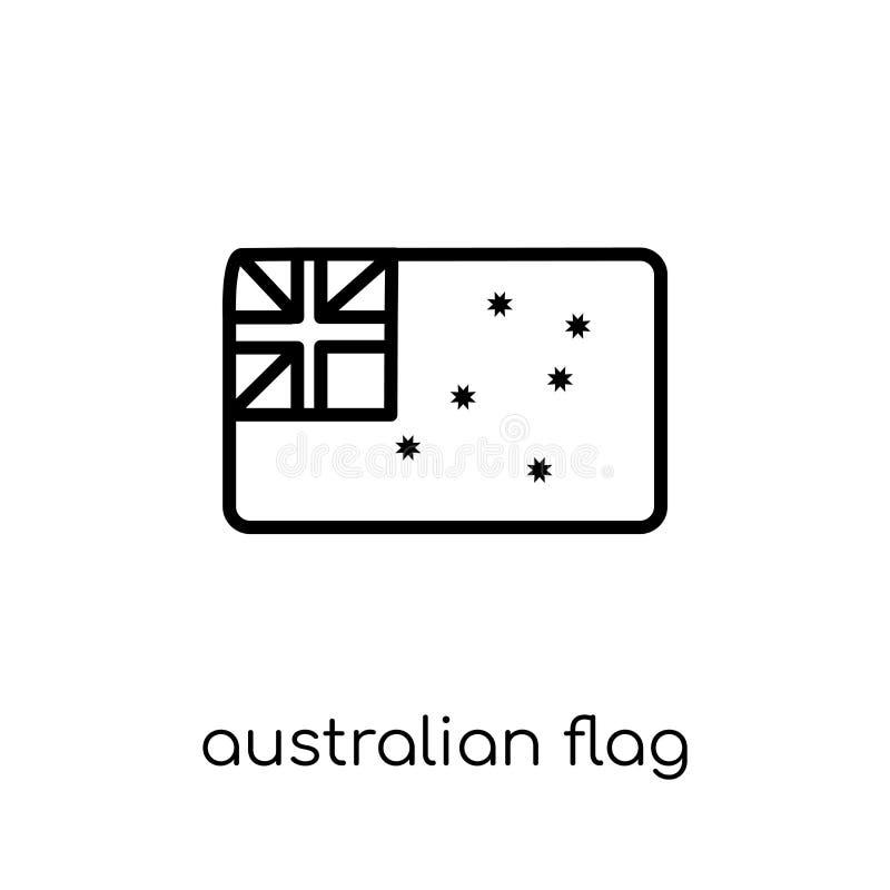 Icône australienne de drapeau de collection de l'Australie illustration stock