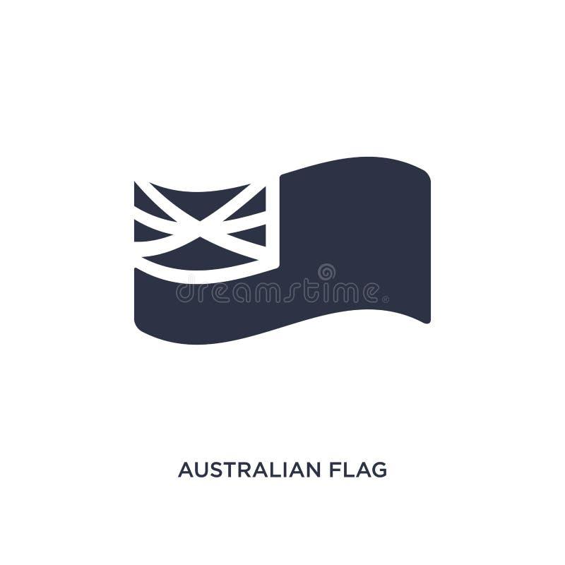 icône australienne de drapeau sur le fond blanc Illustration simple d'élément de concept de culture illustration stock