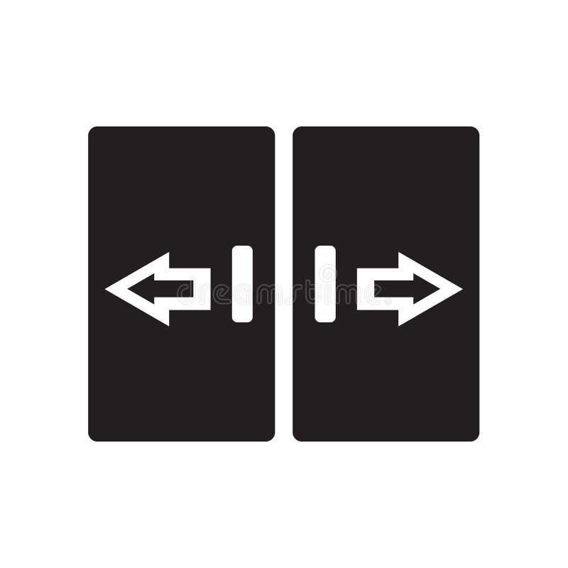 icône automatisée de porte Concept automatisé à la mode de logo de porte sur le blanc illustration libre de droits