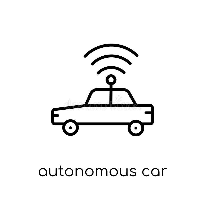 Icône autonome de voiture  illustration de vecteur