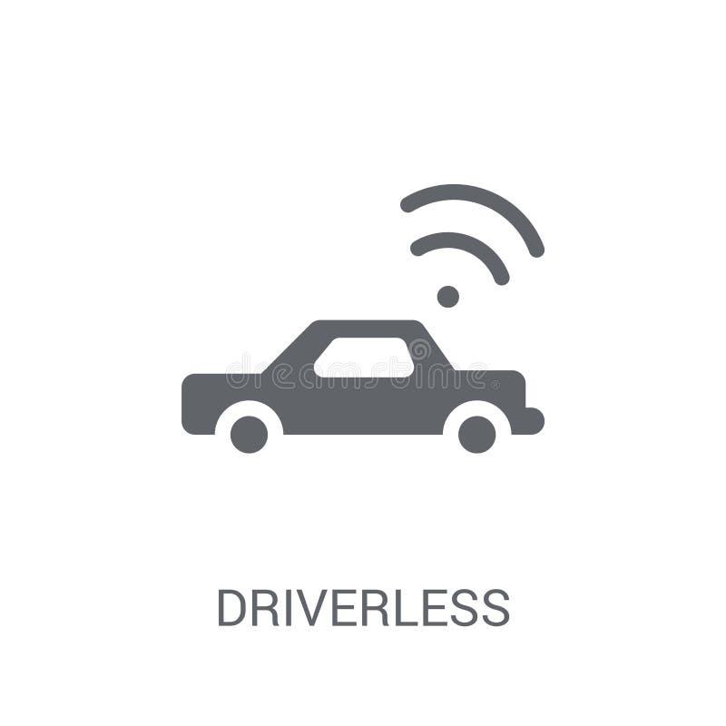 Icône autonome Driverless de voiture  illustration libre de droits