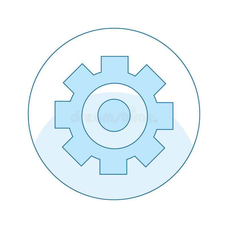 Icône avec la vitesse, mécanique, réparation des ruptures Outil en cercle illustration stock