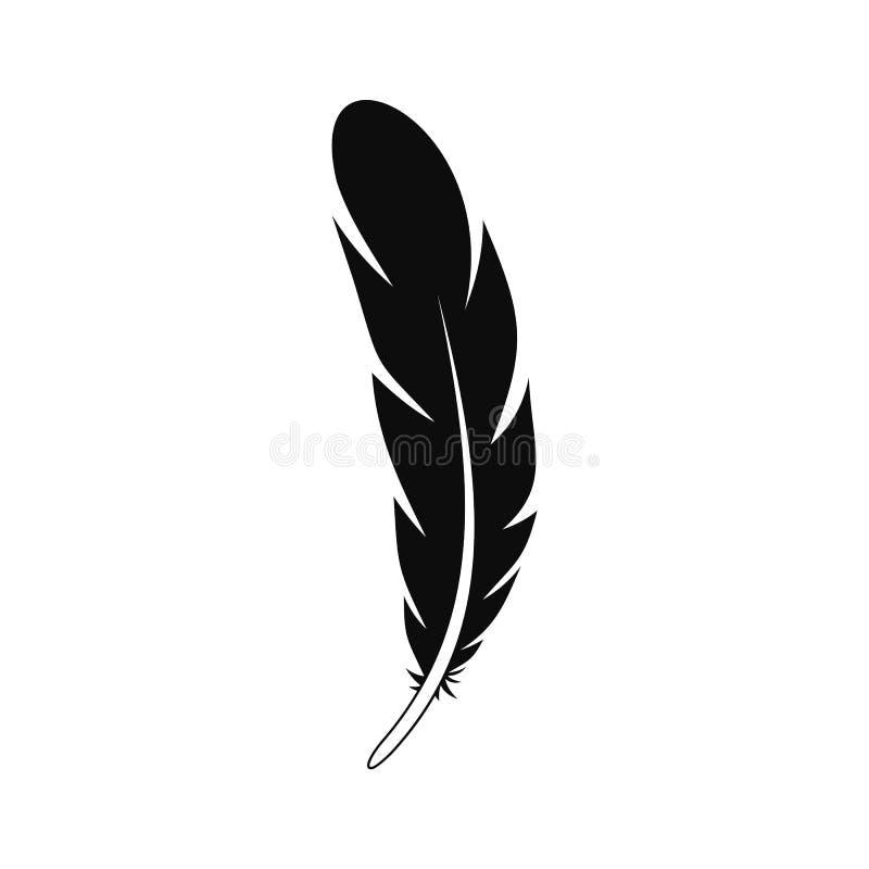 Icône aztèque de plume, style simple illustration de vecteur