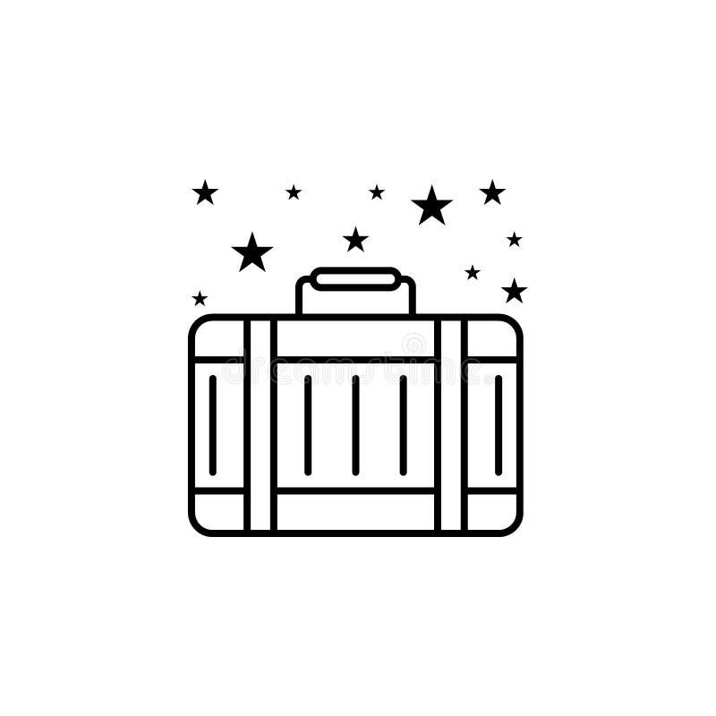 Icône Bagage bagages de voyage Icône Élément de sacs illustration de vecteur