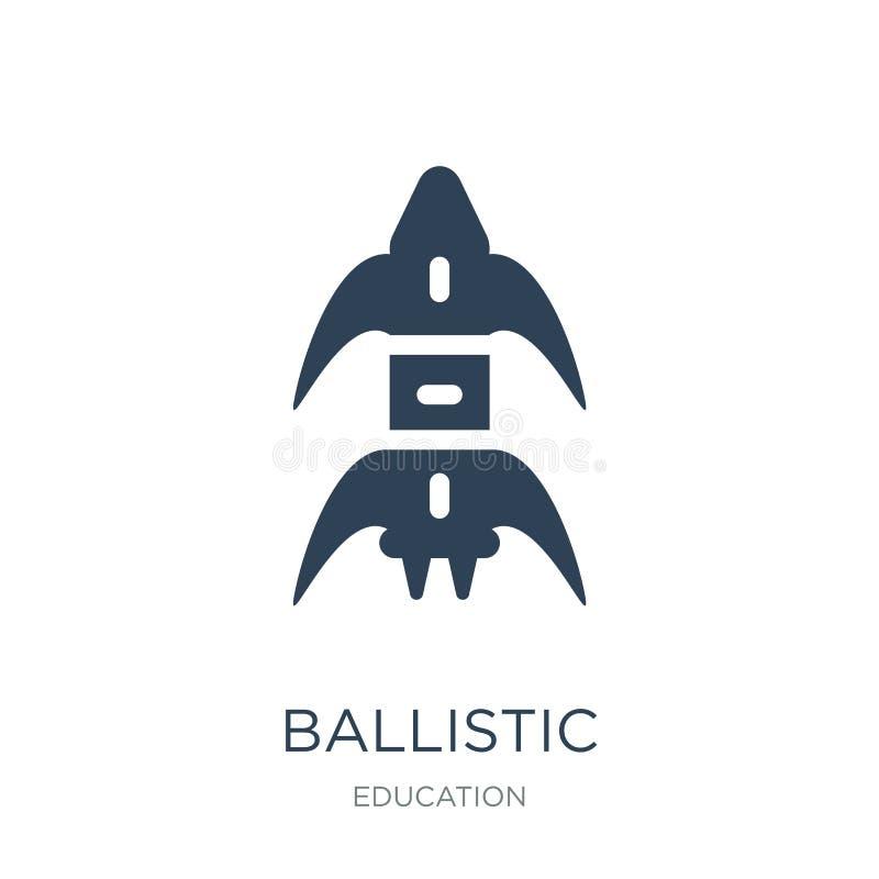 icône ballistique dans le style à la mode de conception icône ballistique d'isolement sur le fond blanc appartement simple et mod illustration stock