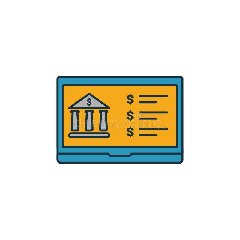 Icône Banque en ligne Élément simple de la collection d'icônes de finance personnelle Icône Creative Online Banking ui, ux, appli illustration libre de droits