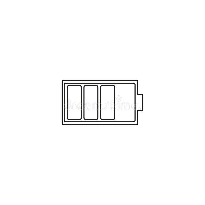 icône baterry noire moyenne illustration stock