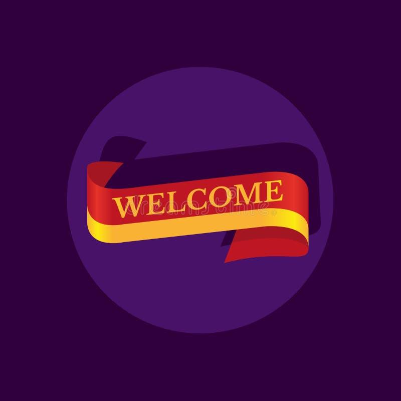 Icône bienvenue de ruban illustration libre de droits