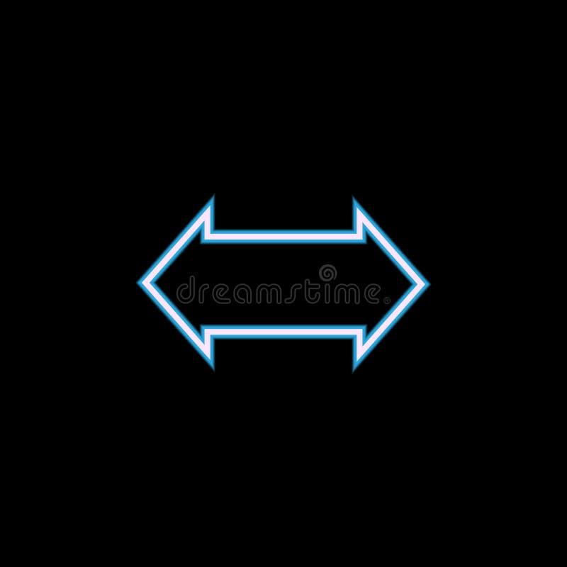 icône bilatérale de flèche dans le style au néon Un de l'icône de collection de Web peut être employé pour UI, UX illustration libre de droits