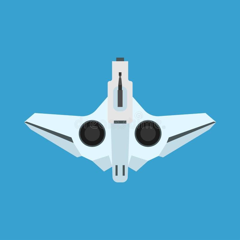 Icône blanche de vecteur de vue supérieure de couleur de bourdon Affaires sans fil de caméra de transport de voyage d'équipement  illustration libre de droits