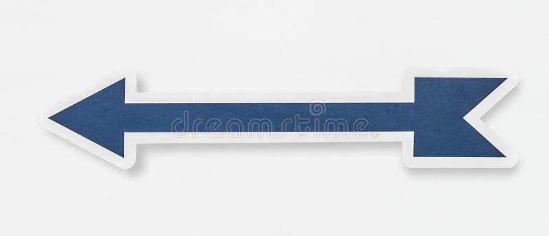 Icône bleue de barre de flèche d'isolement illustration de vecteur
