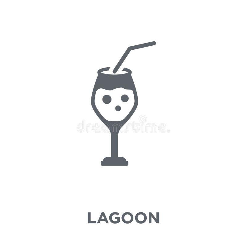 Icône bleue de lagune de collection de boissons illustration de vecteur