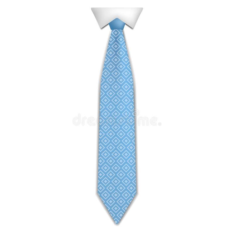 Icône bleue de lien de mode, style réaliste illustration stock