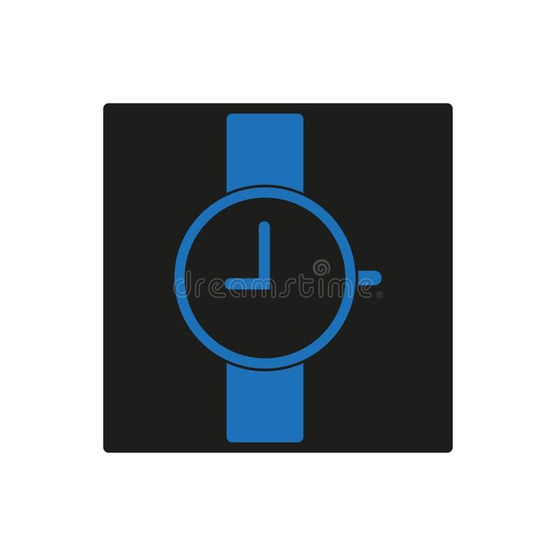 Icône bleue de montre-bracelet, 9 heures illustration libre de droits