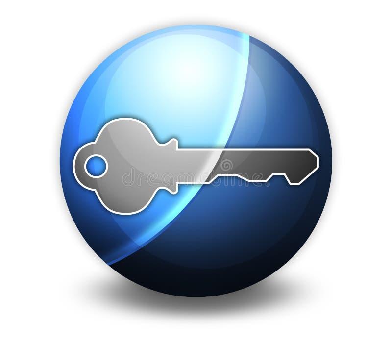 Icône, bouton, clé de pictogramme illustration libre de droits