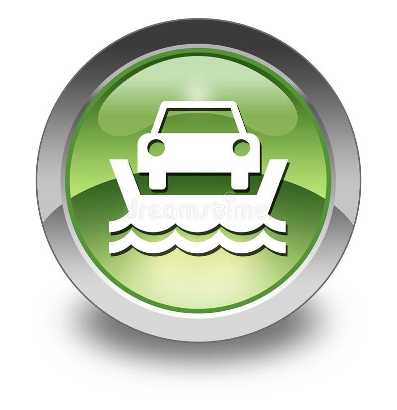 Icône, bouton, ferry de véhicule de pictogramme illustration libre de droits
