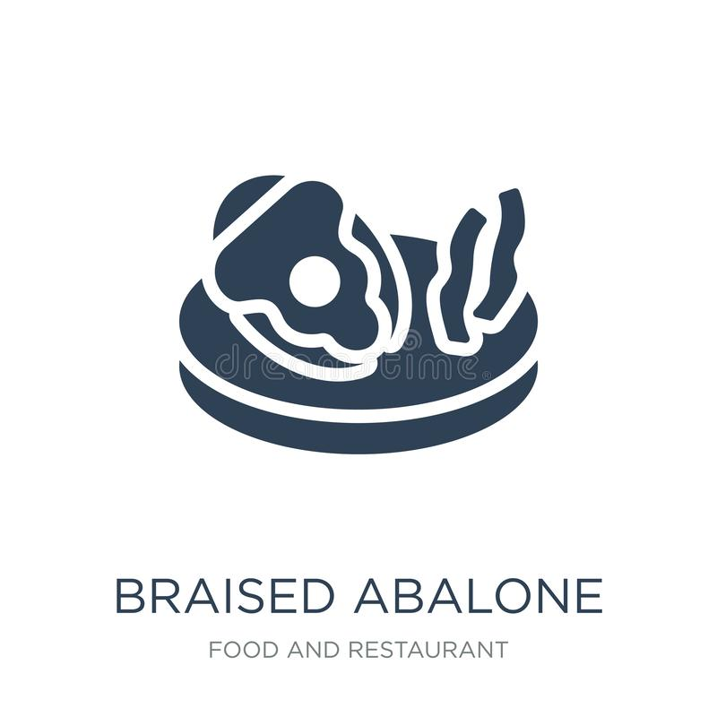 icône braisée d'ormeau dans le style à la mode de conception icône braisée d'ormeau d'isolement sur le fond blanc icône braisée d illustration de vecteur