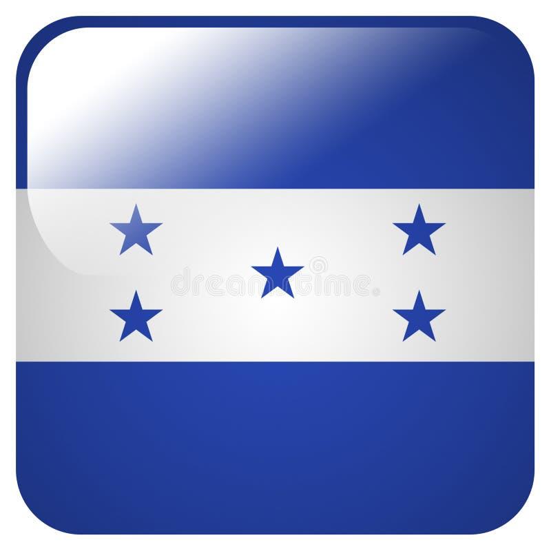 Icône brillante avec le drapeau du Honduras illustration libre de droits
