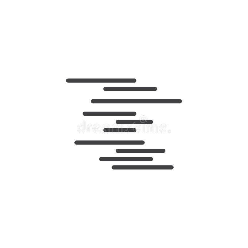 Icône brumeuse d'ensemble de temps illustration de vecteur