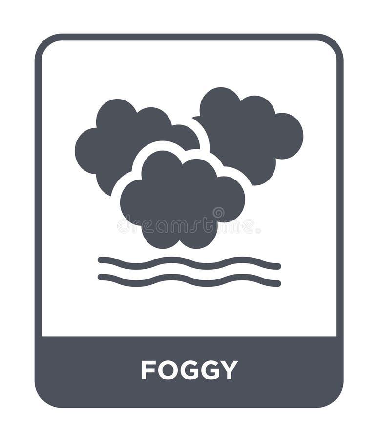 icône brumeuse dans le style à la mode de conception icône brumeuse d'isolement sur le fond blanc symbole plat simple et moderne  illustration libre de droits