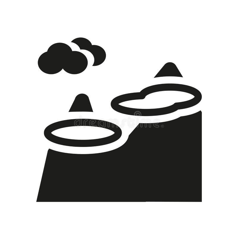 Icône brumeuse de jour Concept brumeux à la mode de logo de jour sur le backgroun blanc illustration libre de droits