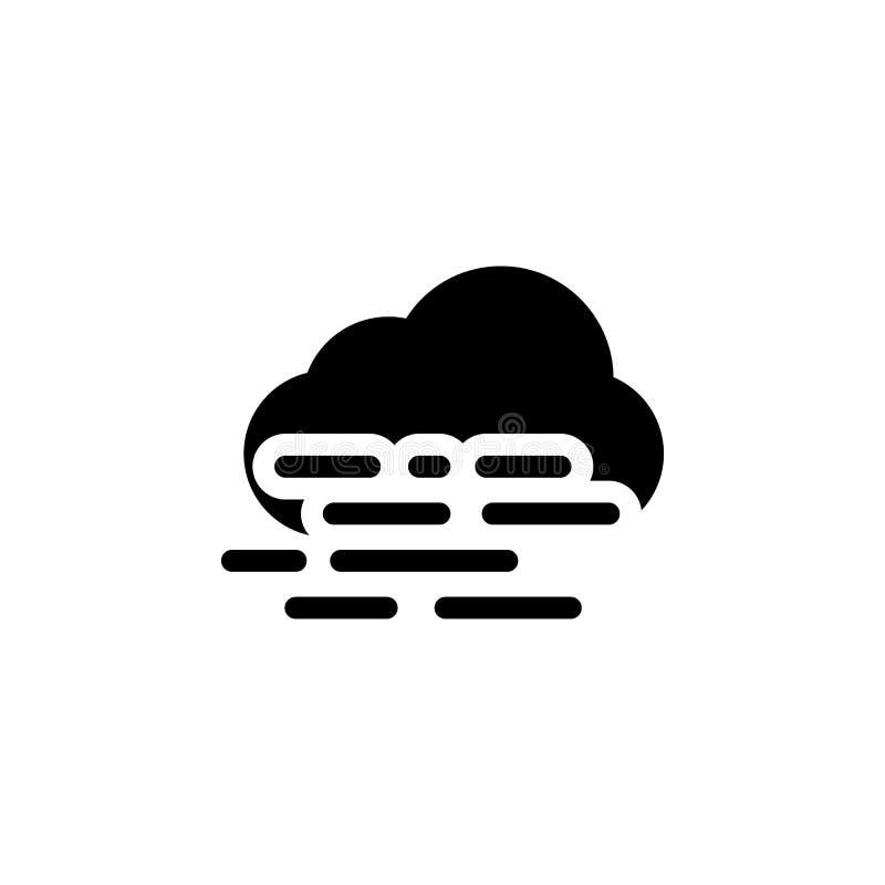 Icône brumeuse de nuage r Des signes et les symboles peuvent être employés pour le Web, logo, l'appli mobile, UI, UX illustration de vecteur