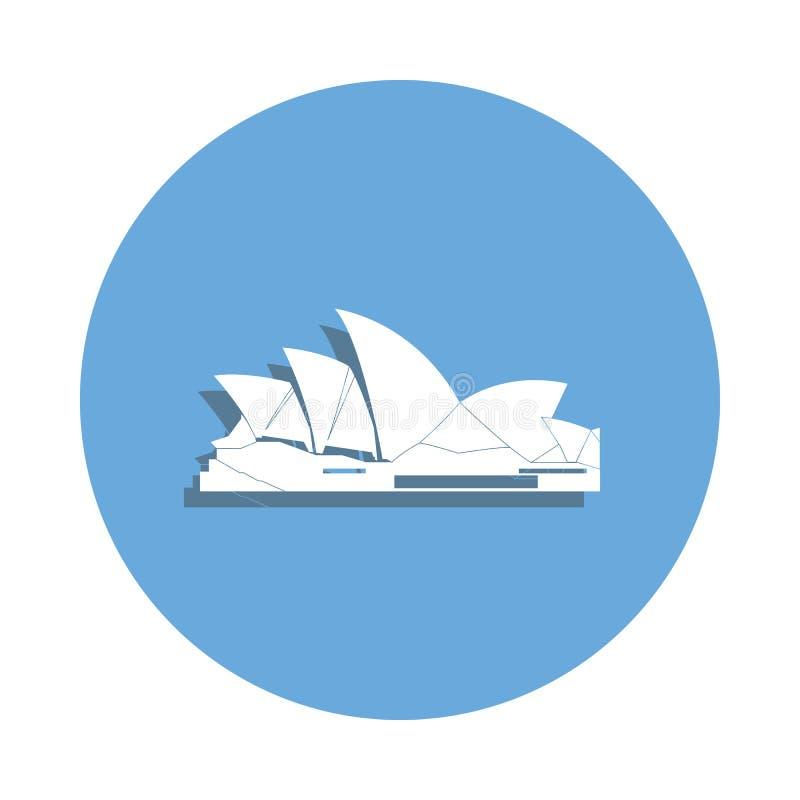 Icône célèbre de buildinig d'Australie dans le style d'insigne Un de l'icône de collection de Bulding peut être employé pour UI,  illustration libre de droits