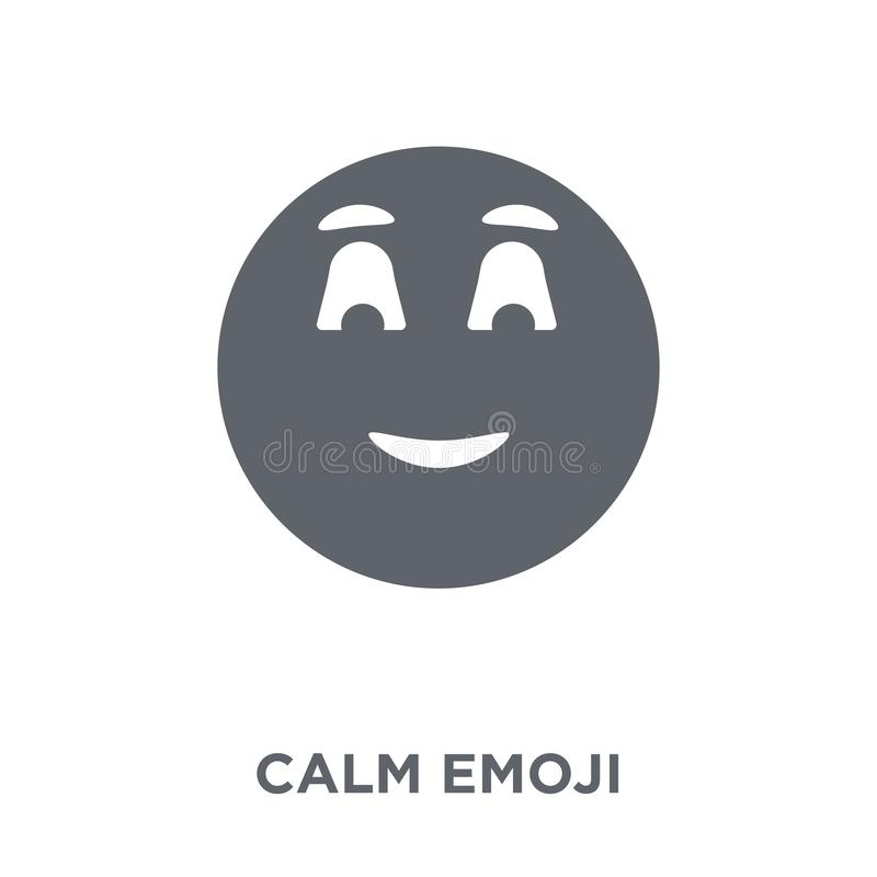 Icône calme d'emoji de collection d'Emoji illustration stock