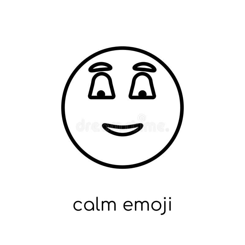 Icône calme d'emoji Ico linéaire plat moderne à la mode d'emoji de calme de vecteur illustration stock