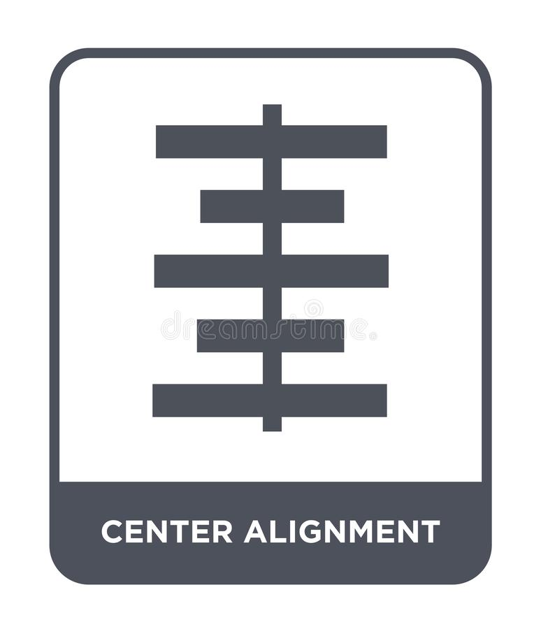 icône centrale d'alignement dans le style à la mode de conception icône centrale d'alignement d'isolement sur le fond blanc icône illustration de vecteur