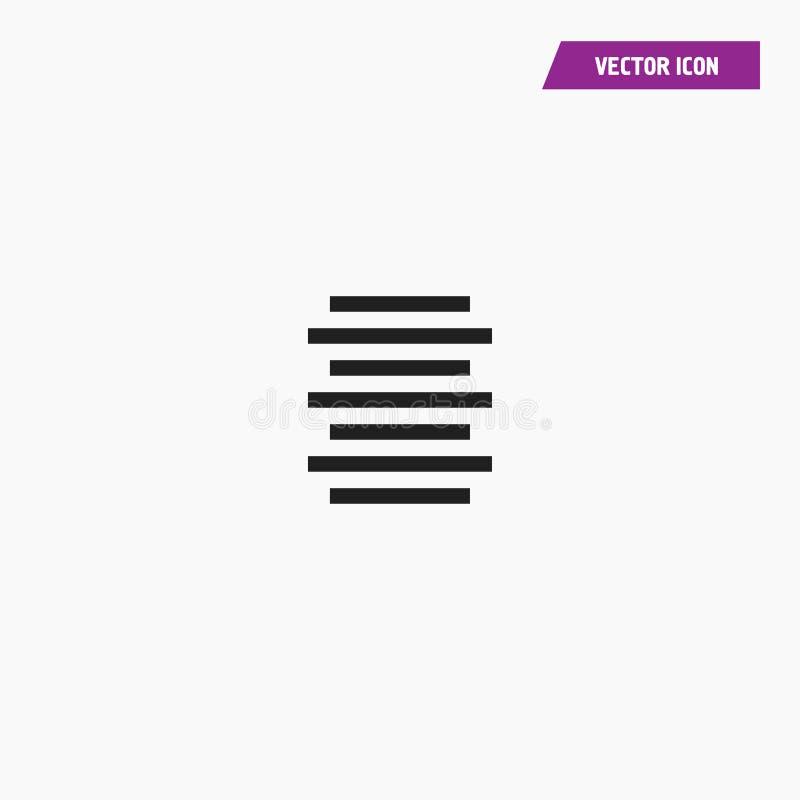Icône centrale d'alignement de document texte illustration libre de droits