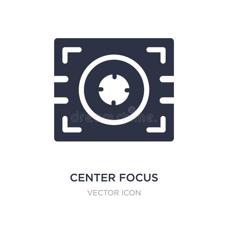 icône centrale de foyer sur le fond blanc Illustration simple d'élément de concept de technologie illustration de vecteur