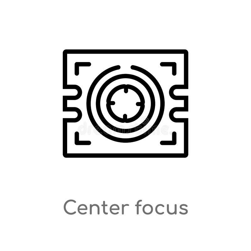 icône centrale de vecteur de foyer d'ensemble ligne simple noire d'isolement illustration d'élément de concept de technologie Cou illustration de vecteur