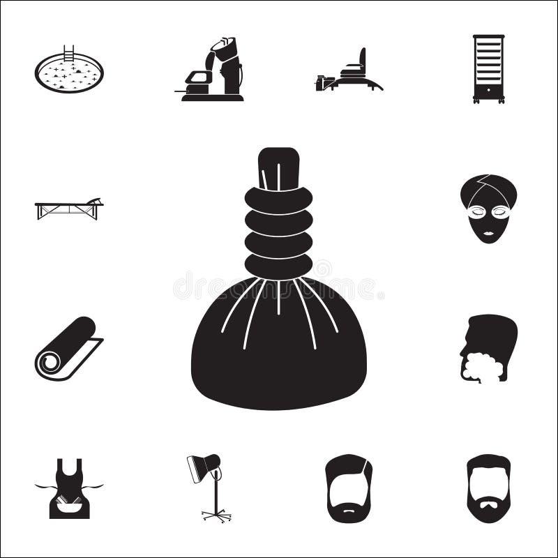 Icône chaude de compresse de station thermale Ensemble détaillé d'icônes de coiffeur Signe de la meilleure qualité de conception  illustration libre de droits