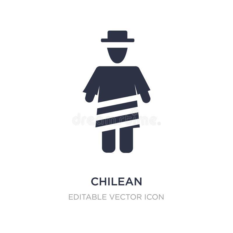 icône chilienne sur le fond blanc Illustration simple d'élément de concept de personnes illustration de vecteur