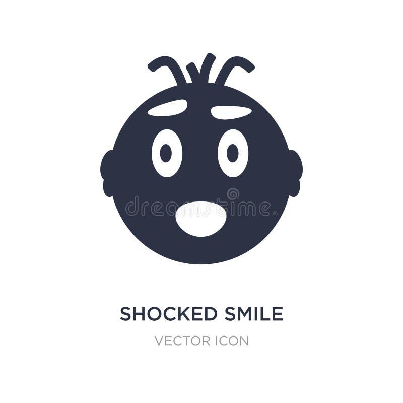 icône choquée de sourire sur le fond blanc Illustration simple d'élément de concept d'UI illustration libre de droits