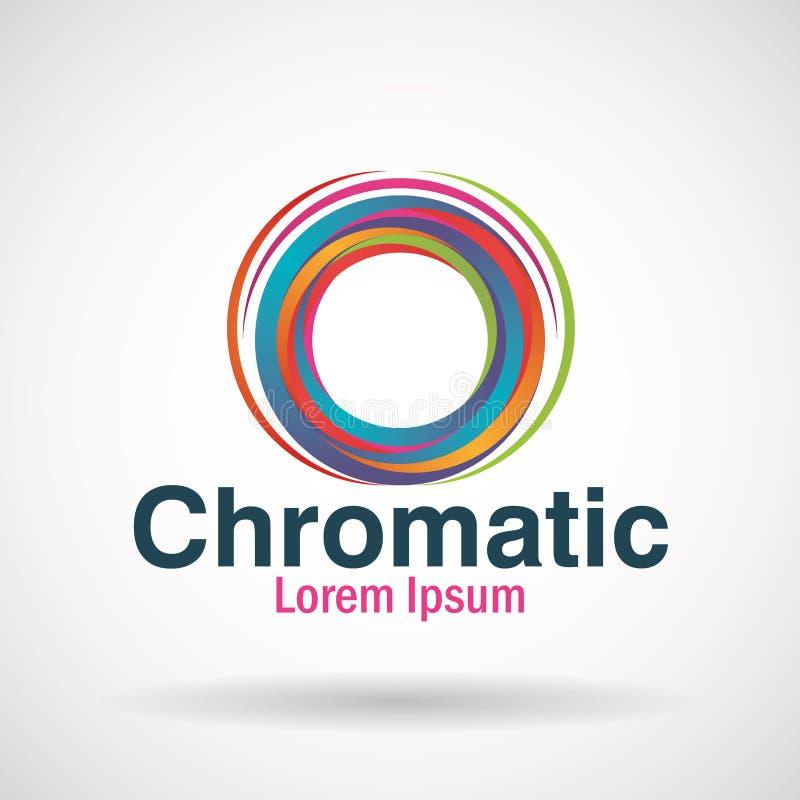 Icône chromatique d'affaires d'emblème illustration stock