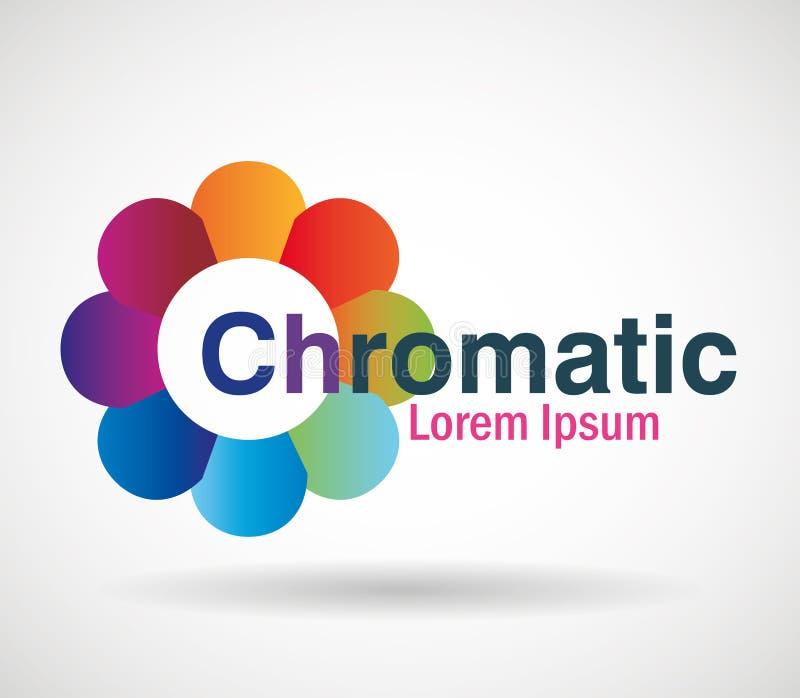 Icône chromatique d'affaires d'emblème illustration de vecteur