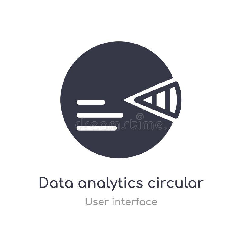 icône circulaire d'ensemble d'analytics de données ligne d'isolement illustration de vecteur de collection d'interface utilisateu illustration libre de droits