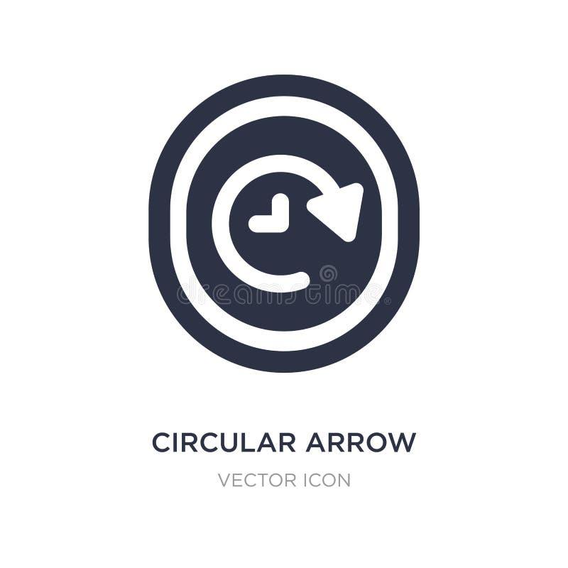 icône circulaire d'horloge de flèche sur le fond blanc Illustration simple d'élément de concept d'UI illustration libre de droits